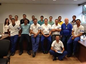 Equipe de treinandos do curso de FMEA na Magneti Marelli – Amortecedores na cidade de Lavras, realizado nos dias 21 e 22de maio/15