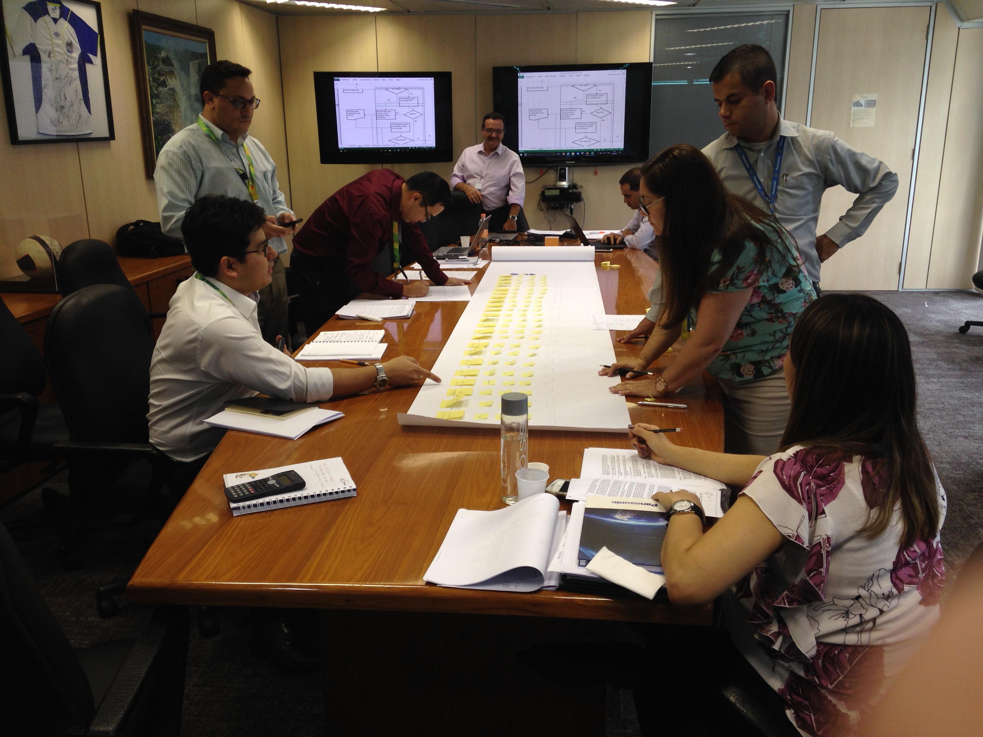 Equipe da Panasonic do Brasil em São Paulo no curso e coaching em projetos para aplicação dos conceitos LEAN Office and Manufacturing. De 14 a 21/2/2017